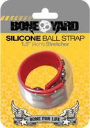 Boneyard Silicone Ball Strap Red